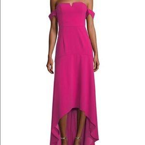 Aidan Mattox high-low gown in raspberry NWT